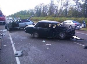 ДТП с четырьмя машинами и одним погибшим устроил мужчина на встречке в Динском районе