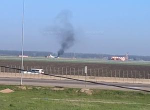 В аэропорту Краснодара горел самолет