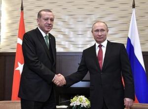 Президент РФ приедет в Сочи для встречи с Эрдоганом