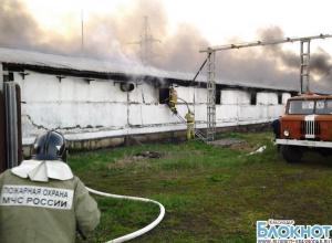 В Динском районе сгорел крупный производственный склад