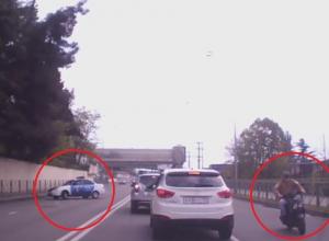 «Веселые гонки» устроили полицейские и мопедист в Сочи