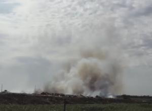 Свалка в Приморско-Ахтарске вспыхнула с новой силой