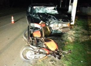 В Краснодарском крае 17-летний мотоциклист пострадал в ДТП