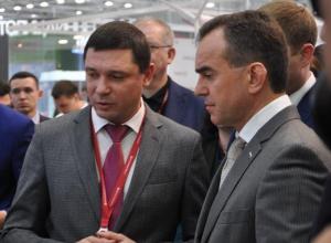 Кондратьев призвал Первышова округлить Краснодар на Российском инвестиционном форуме в Сочи
