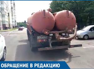 Краснодарцы поймали ассенизатора с разрешением администрации