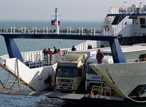 Керченская переправа возобновила работу после перерыва в связи с погодой