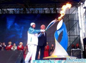 Столица Кубани встретила Паралимпийский огонь