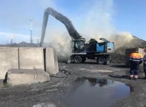 Появилось видео пожара в порту Темрюка