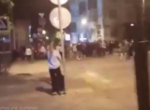 Полиция Краснодара устанавливает личности людей, танцевавших лезгинку в полночь