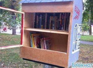 В краснодарском парке появились мини-библиотеки