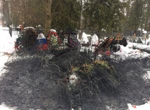 Могила воспитанника летного училища Краснодара Романа Филипова сгорела на 40-й день
