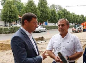 «Давно назрел», - мэр Краснодара Первышов о ремонте улицы Ставропольской