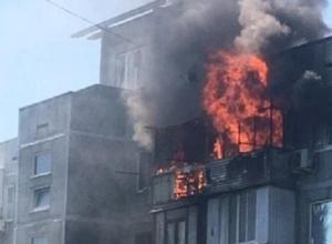Пожар поглотил две квартиры в Краснодаре