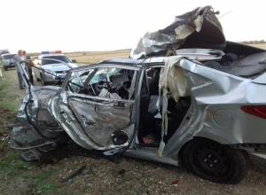 В лобовом ДТП с грузовиком погибли ребенок и взрослый на Кубани