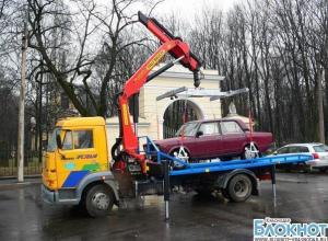 В Краснодаре сегодня начнется эвакуация машин с маршрута Эстафеты