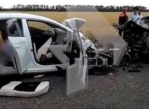 В страшной аварии на Кубани погибло 5 человек: видео с места трагедии шокирует