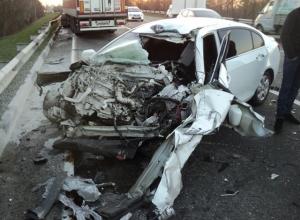 В Краснодарском крае произошла авария с участием четырех автомобилей