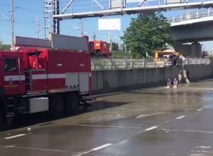 В Сочи затопило участок трассы