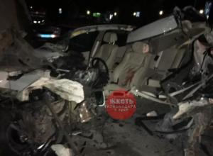 Пытаясь сбежать от полиции водитель иномарки устроил лобовое ДТП в Небуге