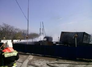 Пожар на АЗС под Новороссийском вспыхнул из-за столкновения грузовика с цистерной с газом