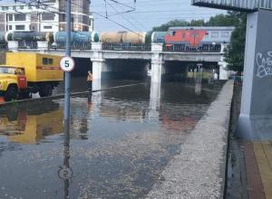 После продолжительного дождя проблемные места Краснодара вновь оказались под водой