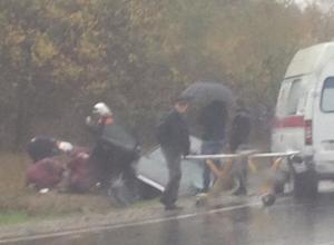 В Новороссийске на Волчьих воротах автомобилист вылетел в кювет, приехала реанимация