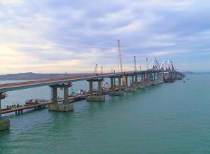 Крымский мост выдержал вес двух синих китов