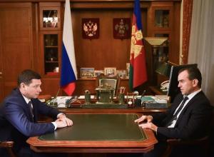Вениамин Кондратьев провел первую рабочую встречу с новым мэром Краснодара