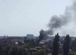 Пожар в гараже напугал жителей Краснодара