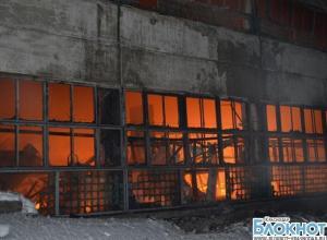 Потушен пожар на краснодарском текстильном складе