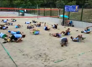 Волейболисты Краснодара устроили флешмоб в честь символа симуляции Неймара