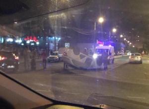 Авария с такси-«перевертышем» произошла в Краснодаре