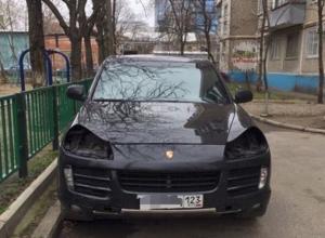 В Краснодаре неизвестные совершили рейд по фарам Porsche