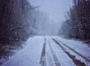 На дорогах Краснодарского края снежный накат и гололедица