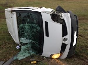 Фургон протаранил микроавтобус на трассе «Краснодар-Ейск»