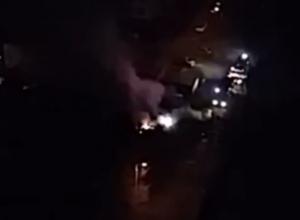 Несколько иномарок сгорели в результате ночного пожара в Краснодаре
