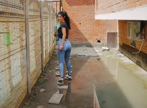 Музыкальный микрорайон Краснодара все еще тонет после дождя