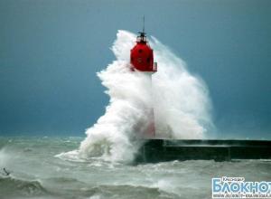 На Черноморском побережье ожидается ураганный ветер