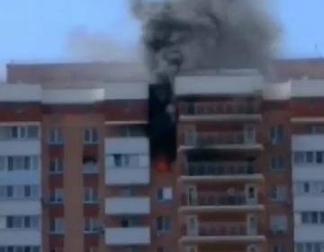 В Краснодаре загорелась квартира в районе «Красной площади»