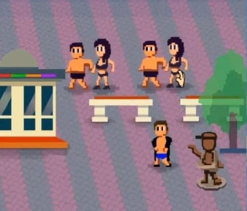 На Кубани сделали «видеоигру», где можно шлепать раздетых туристов