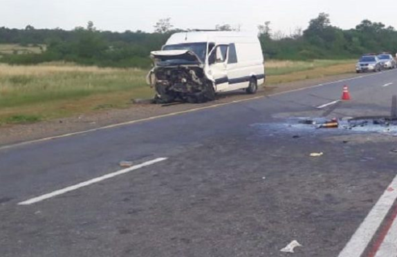 В массовое ДТП с 6 машинами попал рейсовый автобус «Моздок - Краснодар»