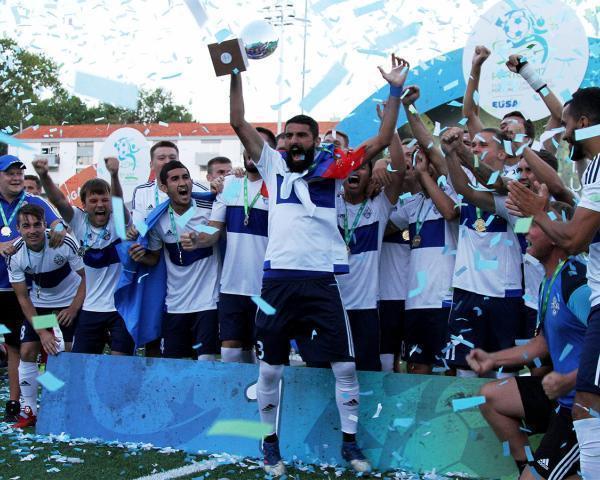 Чемпионами Европы пофутболу стала университетская команда кубанского госуниверситета