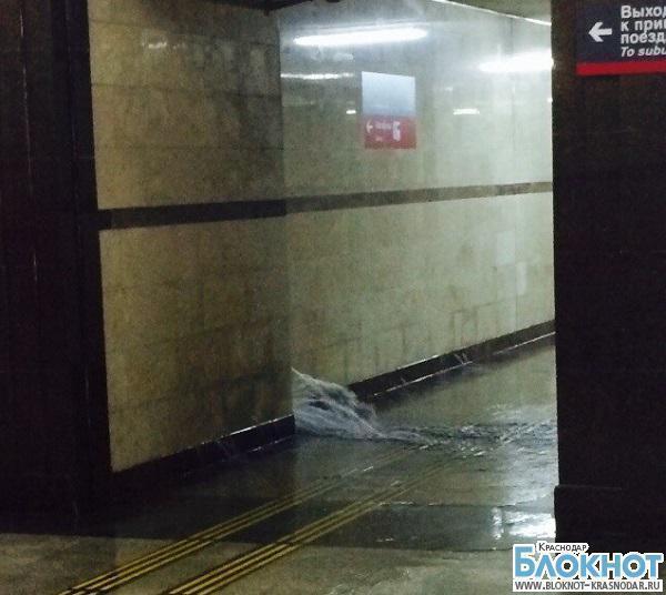 В Сочи произошло затопление вокзала