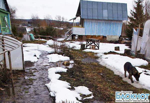 В Краснодарском крае пошел снег