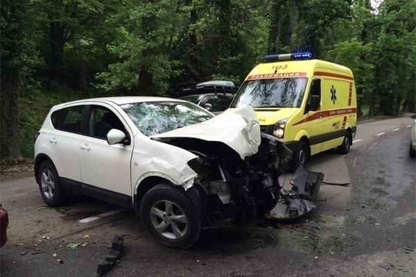 В Сочи из-за водителя без прав два человека попали в больницу