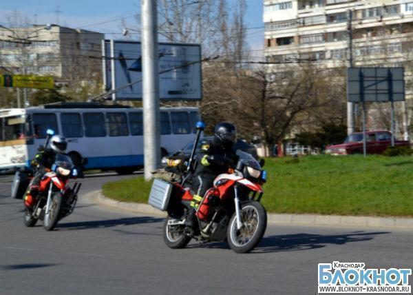 Крымским спасателям доставили из Краснодара специализированные мотоциклы