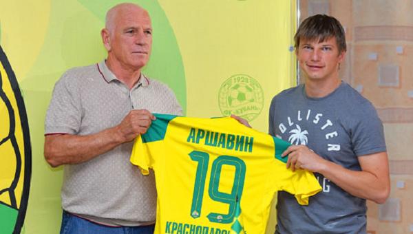 Аршавин в ФК «Кубань» будет выступать под номером 19