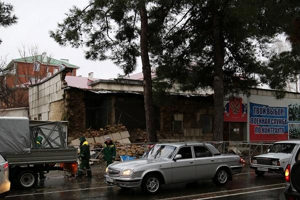 В Анапе обрушилось здание военкомата