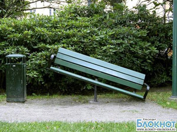 Краснодарский вор украл скамейку для съемной квартиры