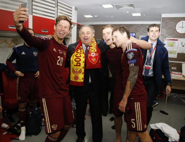Сборная России прилетела в Краснодар